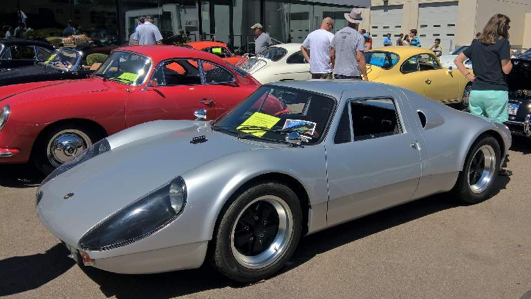 A silver 1965 Beck GTS.