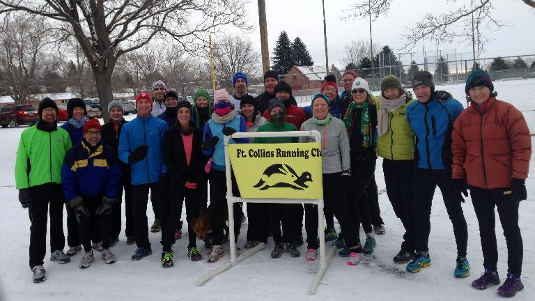 There were 28 runners in today's Edora Park 8k. Photo: Melody White.