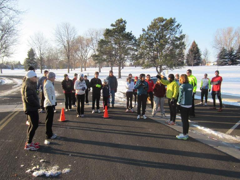Thirty-one runners participated in today's Edora Park 8k.