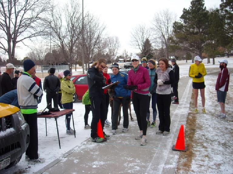 Runners at the start of the Edora Park 8k.