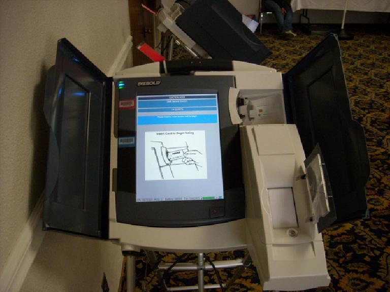 An electronic voting machine, circa 2008.