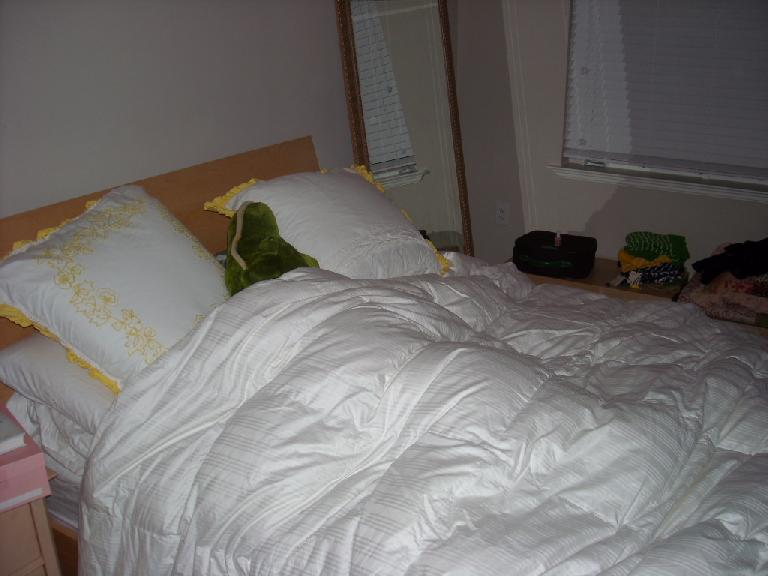 I had to sleep with an alligator named Chomp Chomp in the guest room.
