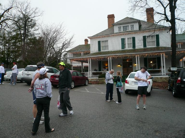 Outside the Ellerbe Springs Inn before the marathon.