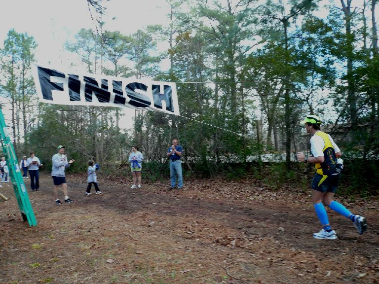 Dan coming in to the finish area for his fifth consecutive Ellerbe Springs Marathon finish.