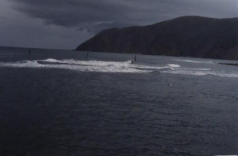 View of the Atlantic from the Lynmouth coast. (August 15, 2000)