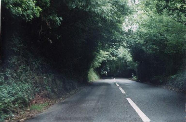 Another pretty English road. (August 15, 2000)