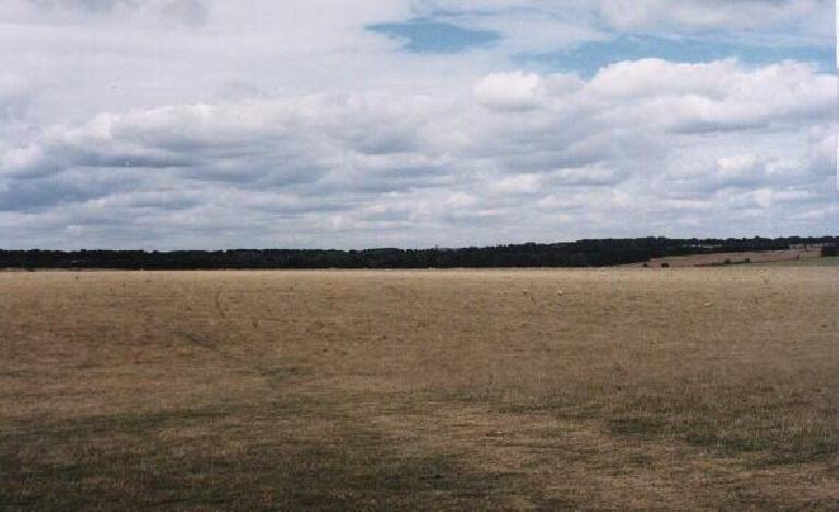 Field opposite of Stonehenge.  Kind of looks like CA! (August 15, 2000)