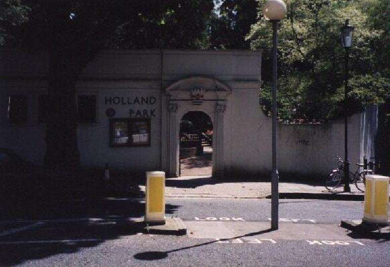 To Holland park with Carolyn.