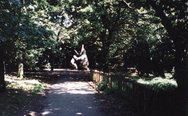 Inside Holland park.