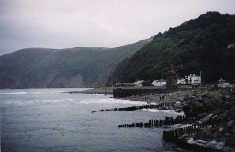 Lynmouth coast. (August 15, 2000)