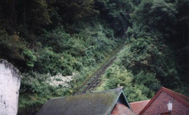 Lynmouth Incline. (August 15, 2000)