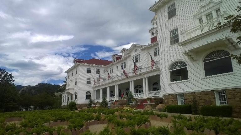 Front of the Stanley Hotel.