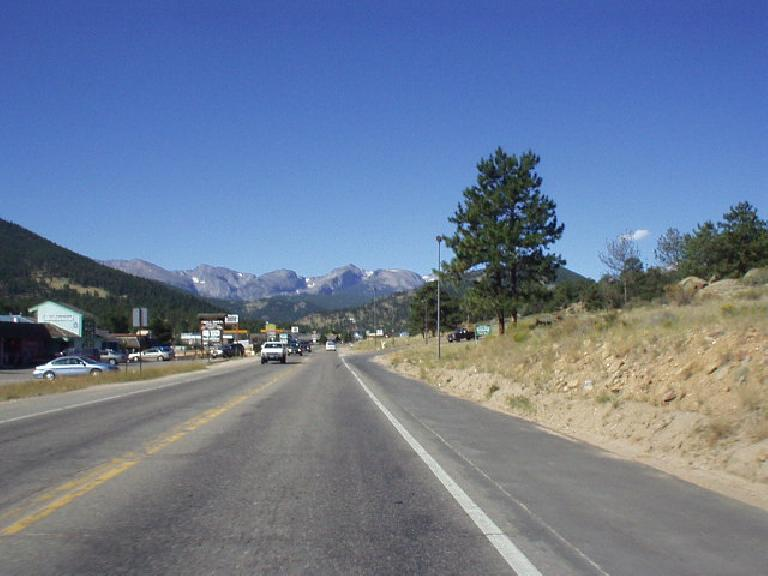 The view of the Rockies to the west of Estes Park.