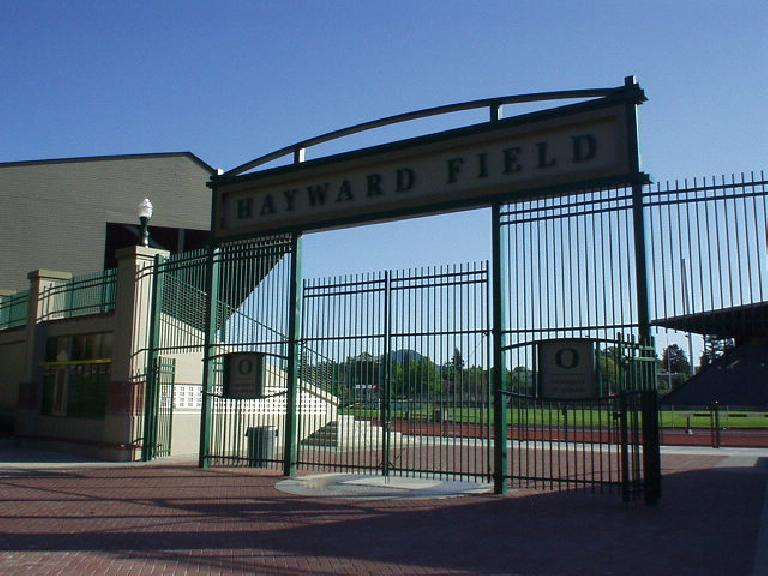 For a dose of inspiration before the Foot Traffic Flat Marathon in Portland, I stopped at Hayward Field in Eugene where legends were born.