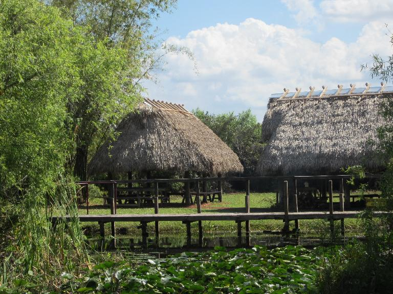 Huts that some of the Native Americans lived in. (February 9, 2013)