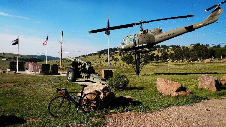 Some sort of memorial for veterans near Cripple Creek.