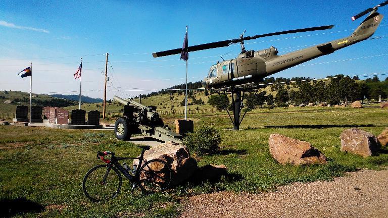Some sort of memorial for veterans near Cripple Creek.