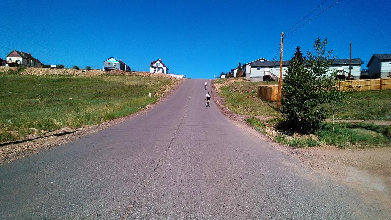 One of the steepest hills.