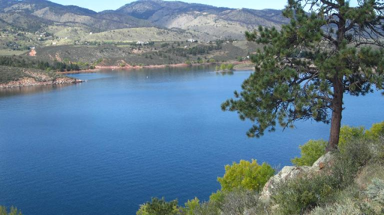 Fall colors are starting to show at the Horsetooth Reservoir.