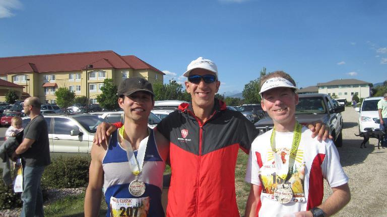 Felix, Bob, and Dan after finishing the Fall Classic Marathon.