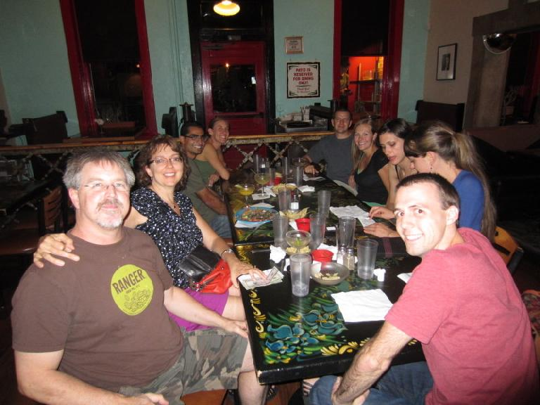 Farewell party for Mehdi at the Rio after his last Spanish Conversation meeting. (September 10, 2012)