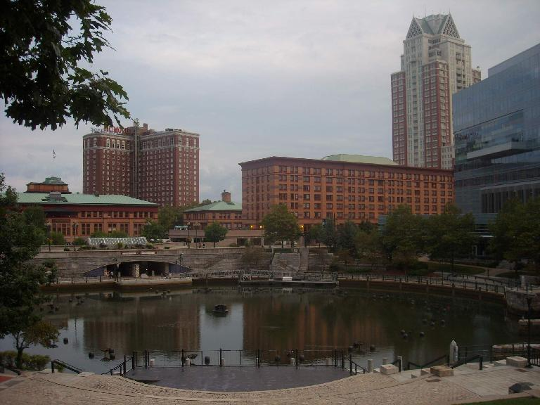 Waterfire, an award-winning sculpture by Barnaby Evans on the rivers of downtown Providence. (August 14, 2011)