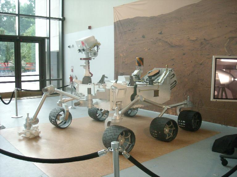 A model of NASA's land rover that will be deployed on Mars later in 2011.  This was at the Smithsonian National Air & Space Museum. (August 15, 2011)