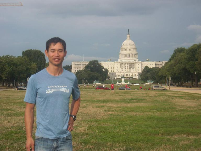 In front of the United States Capitol. (August 15, 2011)