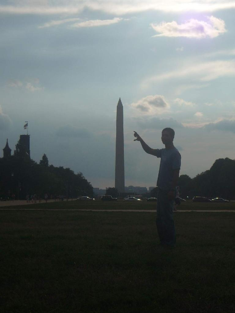 The Washington Monument a week before sustaining damage in a 5.8 earthquake. (August 15, 2011)