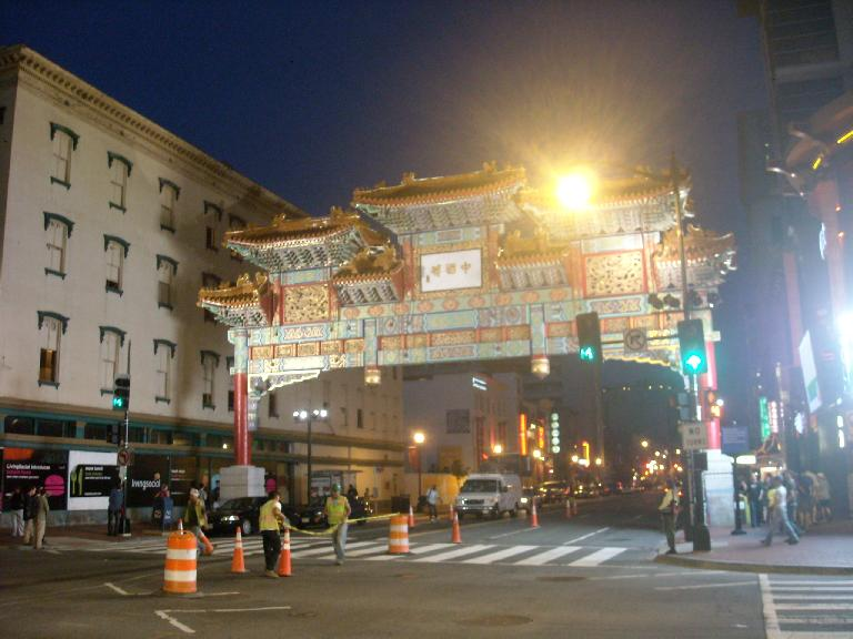 The Friendship Archway of Chinatown in D.C. is supposedly the largest such single-span archway in the world. (August 15, 2011)