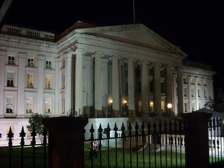 The U.S. Treasury Department, whose folks were probably mightily relieved that it did not have to default on the U.S.' debt last week. (August 15, 2011)