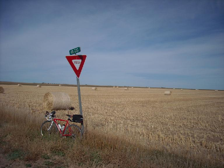 This is somewhat representative of some of the scenery out to the Nebraska border: lots of hayfields, not many trees.