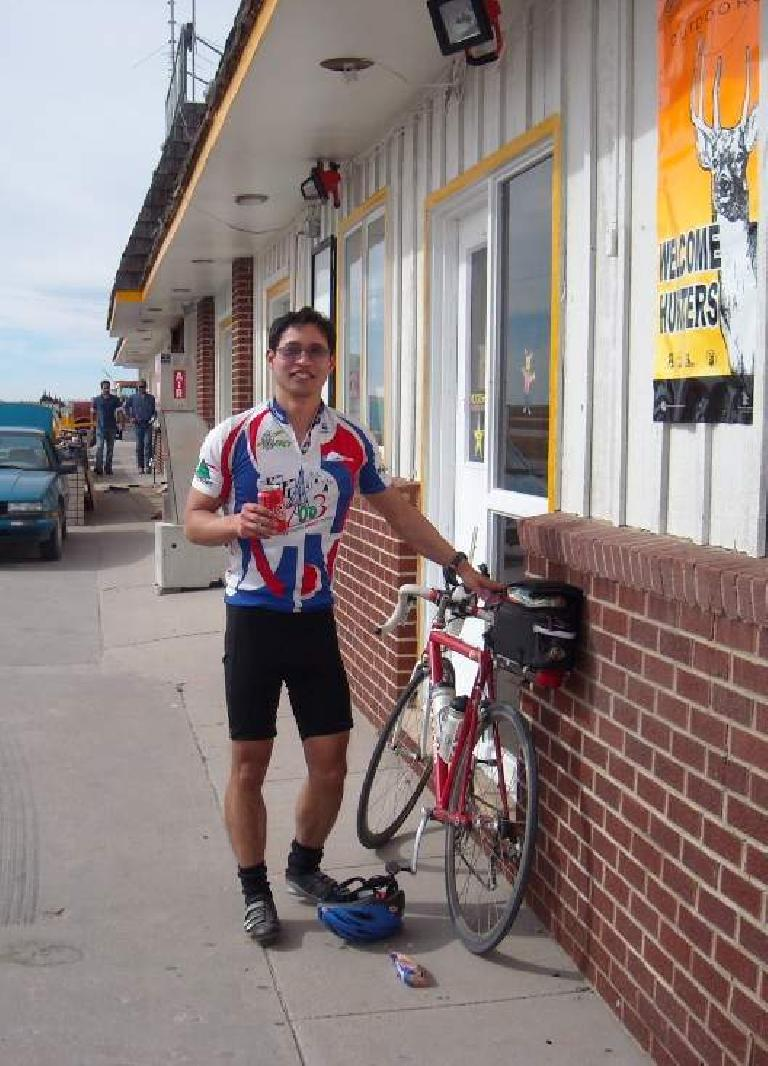 [Mile 113] My first and only resupply stop included some Coke and mini-donuts, since I was pretty tired.