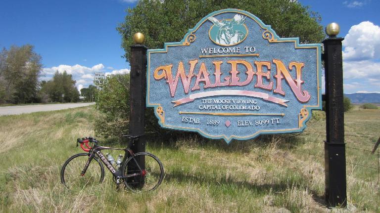[Mile 100, 1:05 P,M.] The Super Bike makes it to Walden.