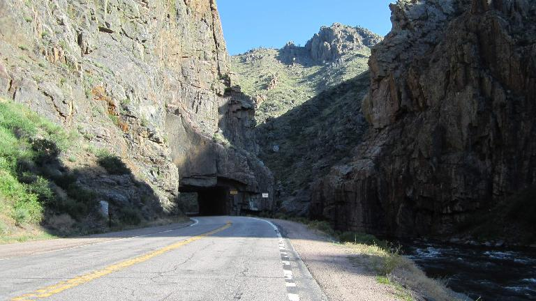 At the Poudre Canyon Tunnel.