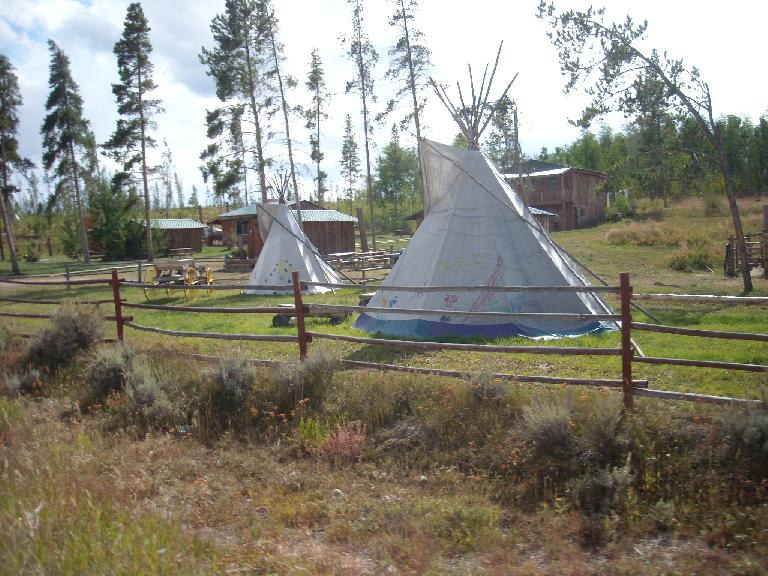 Tepees.