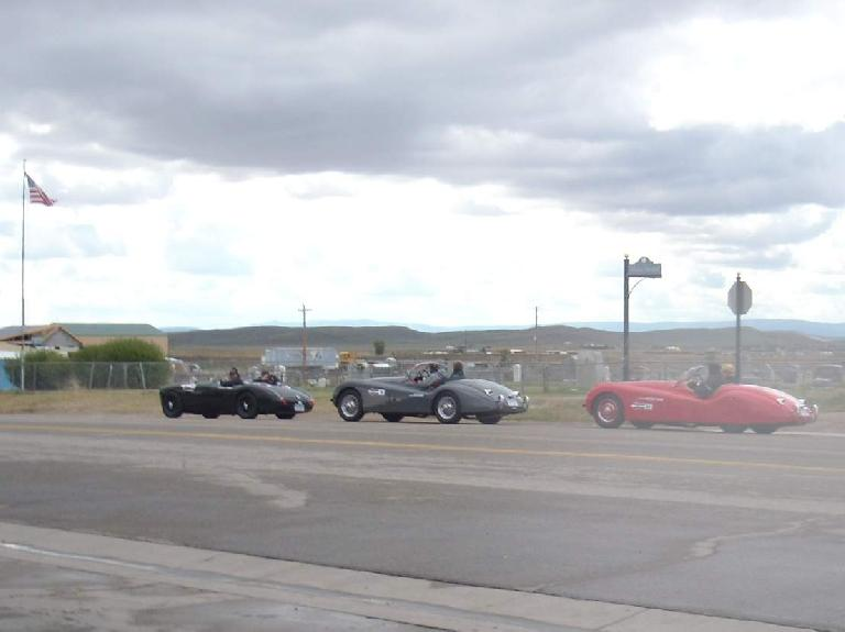 There were these Jaguars in Walden doing some sort of motoring tour.