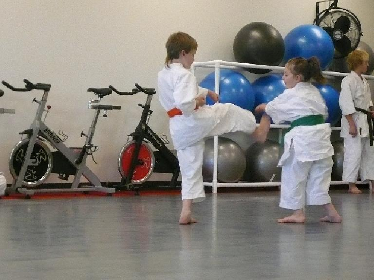Kids doing Karate. (December 1, 2007)