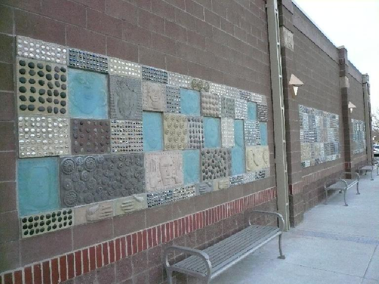 Mosaics on the exterior.