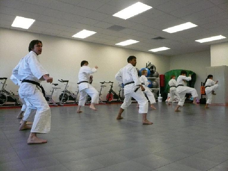 Karate demo. (December 1, 2007)