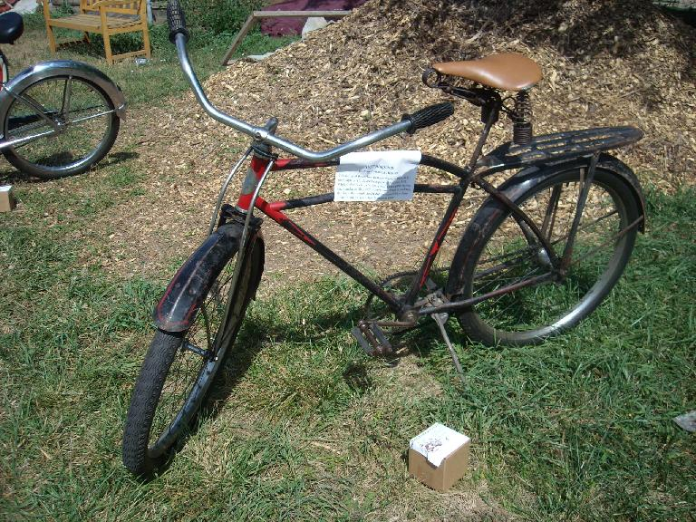 A 1937 Shapleigh built by Columbia Bicycles.  One of the earliest balloon tire bicycles.