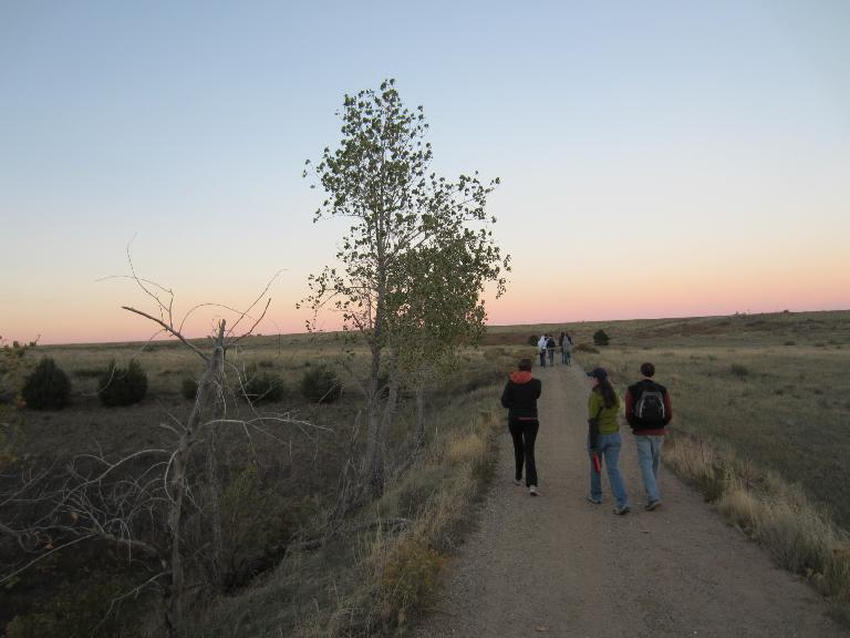 Heading back down to the parking lot at Coyote Ridge. (October 7, 2012)