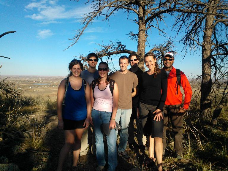 Our second hike this year at Reservoir Ridge. Ali, Mauro, Colleen, Ryan, Hector, Katherine and Jason. (October 21, 2012)