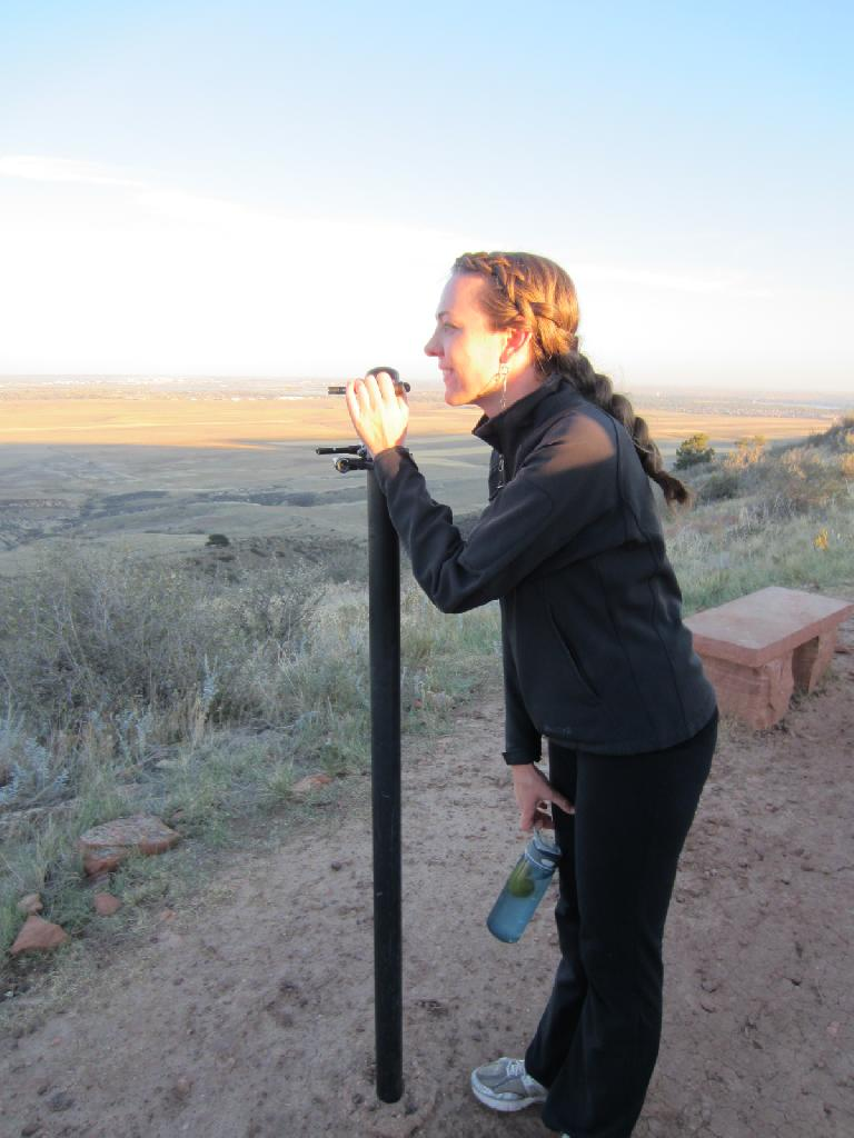Katherine at an overlook near the top of Coyote Ridge. (October 7, 2012)