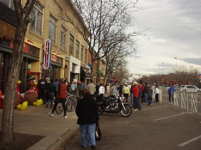Packet pickup and post-race festivities for the Fort Collins Thanksgiving Run were at Old Chicago.