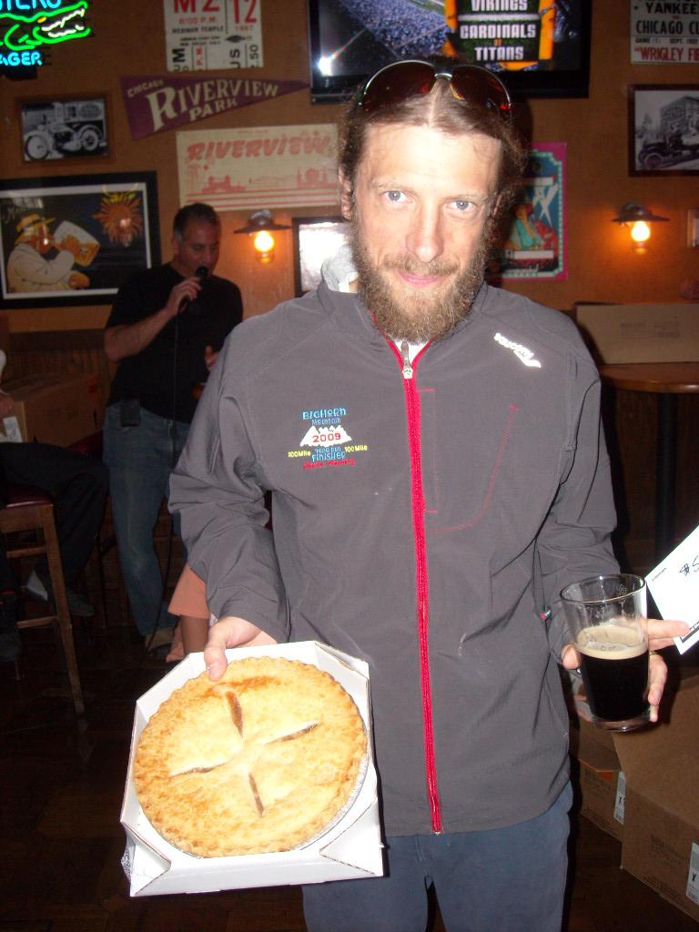 Nick won a pie for being second in his age group.