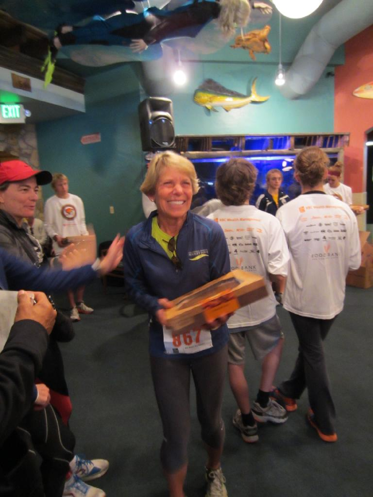 Cathy won a pie!