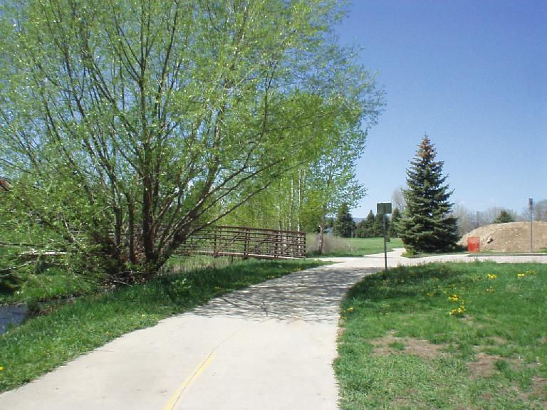 Back on the Poudre Creek recreation trail in Fort Collins.
