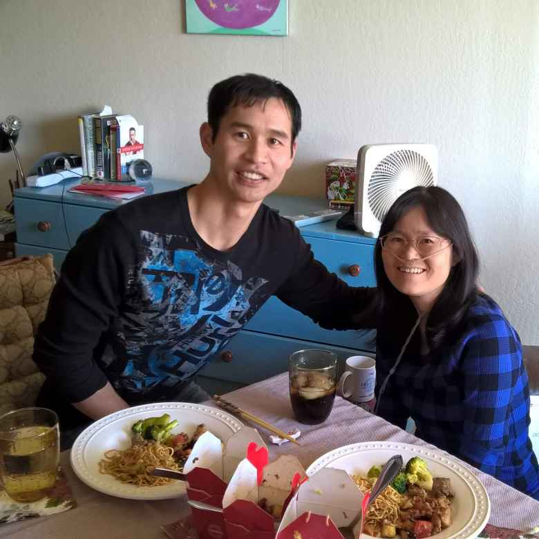 Felix Wong visiting his friend Stacey Li Collver during the holidays of 2017.