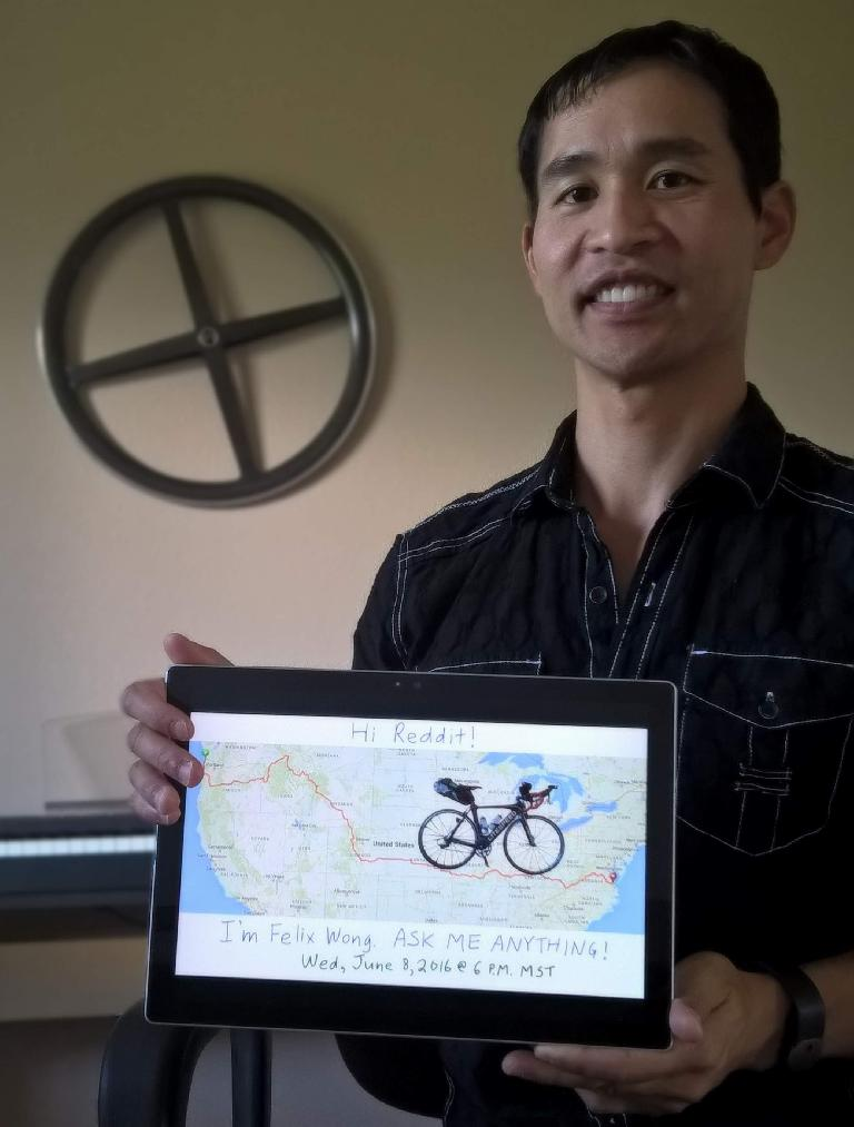 Felix Wong on Reddit AMA (Ask Me Anything).